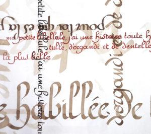 calligraphie avec Escale à Ecouen (Val d'Oise)