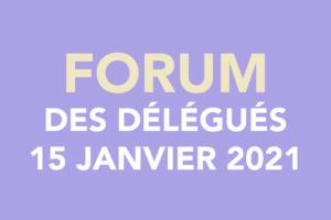 Forum des délégués