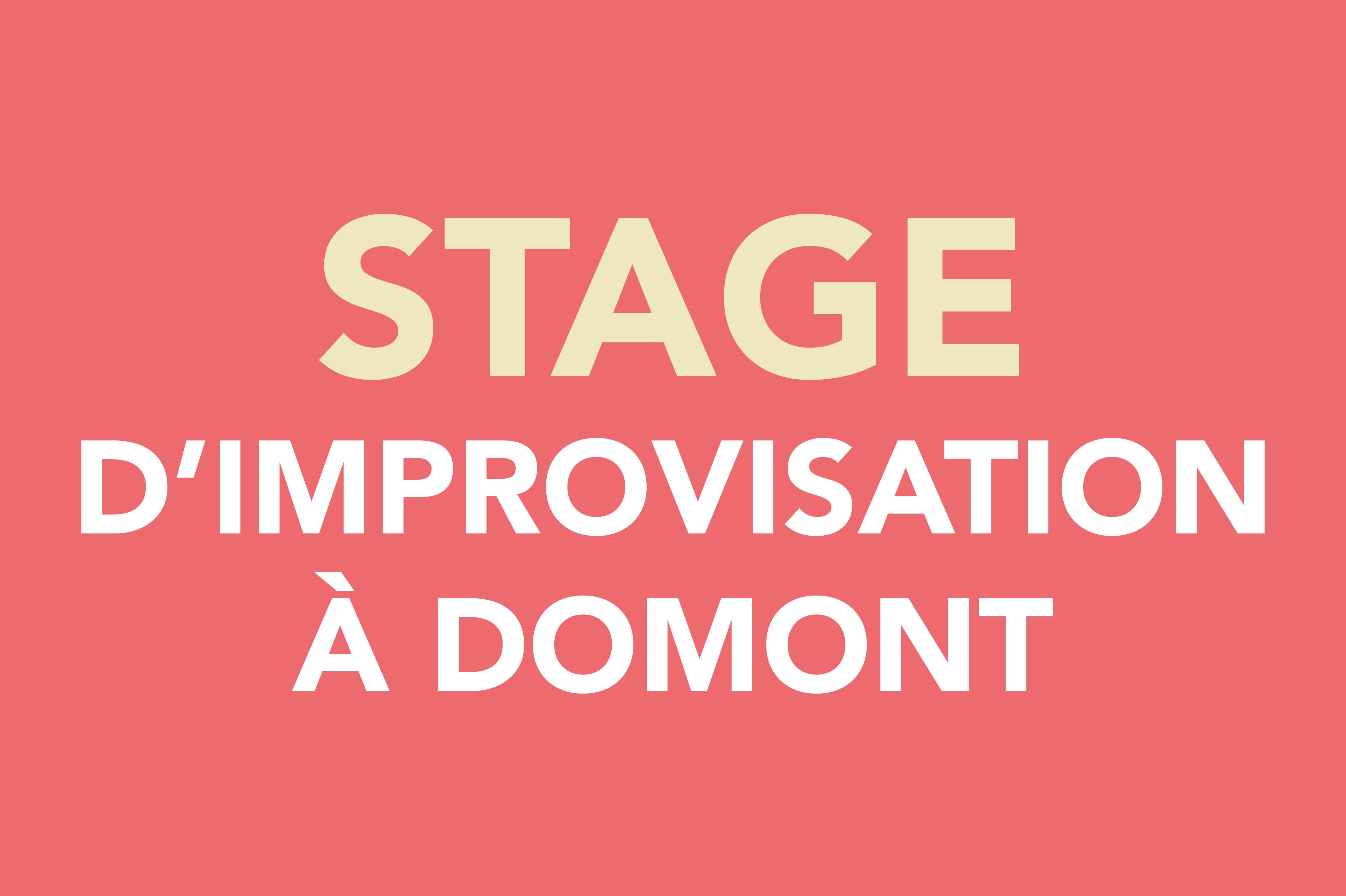 Stage d'improvisation à Domont