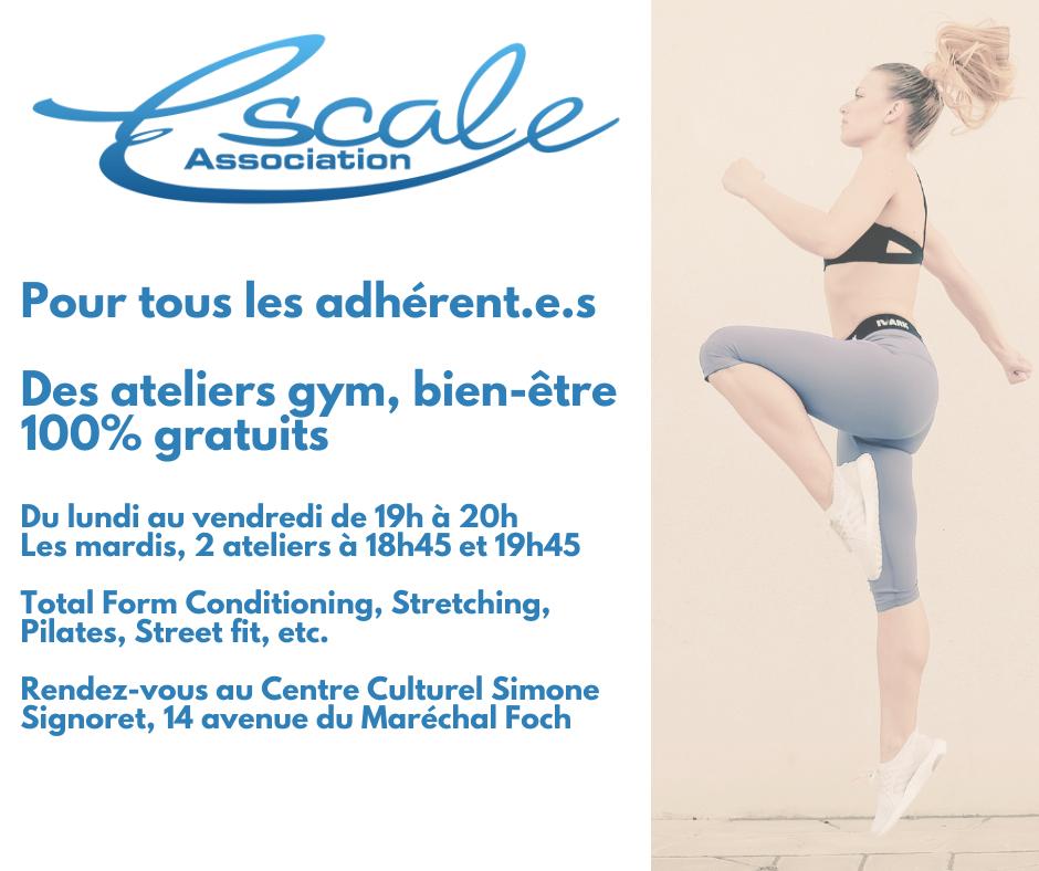 You are currently viewing Stages Gym, Bien-être, 100% gratuits pour les adhérent.e.s